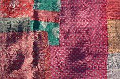 Industrious Vintage Kantha Quilt Indian Handmade Cotton Bedspread Sashiko Throw Bedding Home, Furniture & Diy Decorative Quilts & Bedspreads