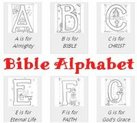 **Free** Bible Alphabet Coloring Pages