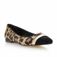 DUNE LADIES Multi AMERETTO - Metal Trim Pointed Toe Dressy Flat | Dune Shoes Online