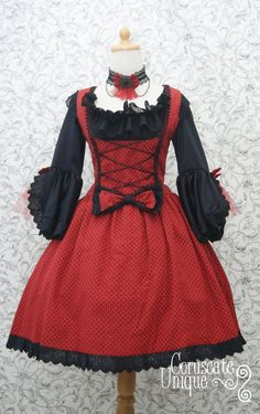 Hey, I found this really awesome Etsy listing at https://www.etsy.com/listing/157898299/red-queen-lolita-dress-and-blouse