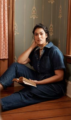 by Pilcro and the Letterpress. With the aesthetic appeal of timeless denim - and all the comfort of your favorite knits - this jumpsuit delivers easygoing sophistication in one of-the-moment silhouette. Just add Oxfords or ankle boots and a go-to cap to let its utilitarian details shine. Denim Jumpsuit, Weekend Wear, Exclusive Collection, Suits You, Anthropologie, Belt, Your Style, In This Moment, Style Inspiration