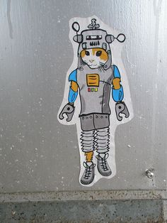 Boy Space Cat street art