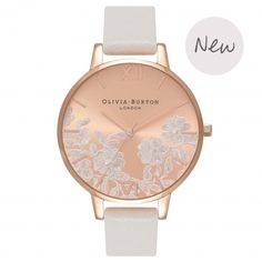 Lace Detail Blush & Rose Gold | Olivia Burton London