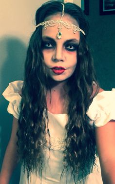 Haunted Mansion Attic Bride. Still working on the makeup. Not done yet... Halloween. Zombie. Bride.