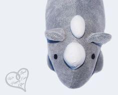 DIY Stuffed Animal Rhino Tutorial and Pattern