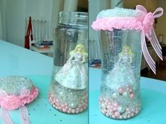 DIY Snow Globe Hi guysgals! DIY Snow Globe is a video to show make a Creative Crafts, that is to make a small barbie snow globe jar. This Creative Crafts is very unique and creative. Unique Snow Globes, Diy Snow Globe, Creative Crafts, Fun Crafts, Arts And Crafts, Creative Things, How To Make Snow, Cool Diy, Glass Vase