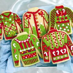Get into the holiday spirit as you plump up in true Christmas fashion with the ugly Christmas sweater cookie kit. This festive kit comes with everything you need to create some delectably tacky cookies shaped like the ugly sweaters we love to hate. Best Christmas Cookies, Christmas Cookie Cutters, Christmas Goodies, Christmas Treats, Christmas Baking, Christmas Holidays, Merry Christmas, Christmas Stuff, Xmas Cookies