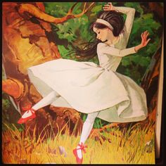 The Red Shoes from Fairy Tales as retold by Bridget Hadaway-- this is the art I remember from childhood.  Beautiful!
