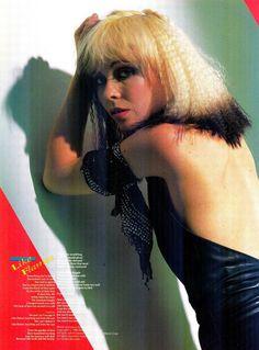 Terri Nunn lead singer of Berlin on the cover of their single 'Like Flames' circa 1987 New Wave Music, The New Wave, Glam Rock, 80s Music, Good Music, Berlin Band, Hard Rock, Heavy Metal, Female Rock Stars