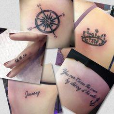 Single needle tattoos Done by Jenny Forth at Circus Tattoo in Miami Beach, FL.  Instagram: jenny_tat2