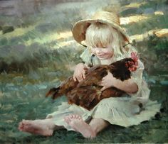 I had 6 hens and a rooster as a little girl. The hens liked to sit in my lap and have me wtroke their necks, backs & heads while I sang to them. If I didn't sing, they wouldn't lay eggs. ヅ ❤ ヅ ❤ ヅ ❤