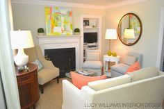 LUCY WILLIAMS INTERIOR DESIGN BLOG: BEFORE AND AFTER: KENSINGTON LIVING ROOM