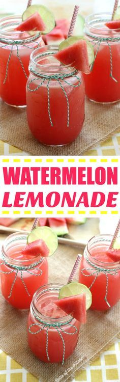 I could drink this Watermelon Lemonade all summer long! Love that it's so simple, too; only five ingredients!