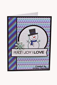 The best things in life are Pink.: Doodlebug's Frosty Friends 6x6 cards