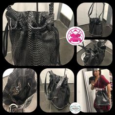 Izzie créations sur Instagram: Sac disponible en simili cuir croco noir gris métallisé Poches intérieures ( 1zip et 1 plaquée compartimentée) Anse réglable…
