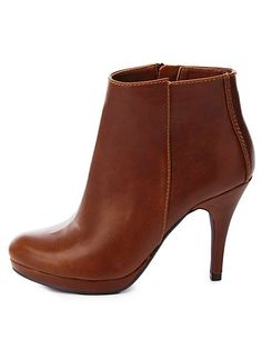 4a16b6ca468f City Classified Round Toe High Heel Ankle Booties  CharlotteRusse   CRFashionista  booties Charlotte Russe