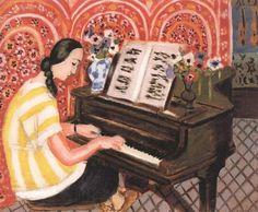 Ritratto di una giovane donna che suona il pianoforte di Henri Matisse 1925