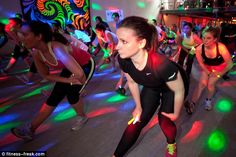 Rave gear's being added to exercise classes all over the globe. Rave aerobics if you will! Glow Stick Party, Glow Sticks, Aerobics Classes, Diy Bra, Rave Gear, Body Issues, Weight Loss For Men, Sleepover Party, Keep Fit