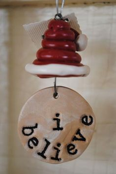 This would be cute with the same words and maybe a cross instead of Santa's hat.