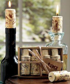 Look what I found on #zulily! Wine Cork Candle Set #zulilyfinds