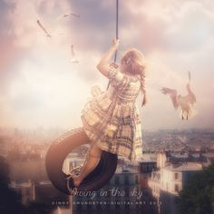 Swing in the sky by CindysArt.deviantart.com on @DeviantArt