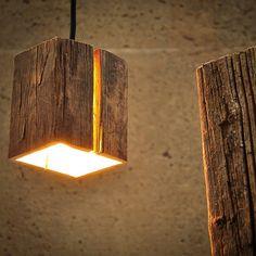 Almleuchten H5 Altholz Hängeleuchte mit Lichtschlitz / faszinierende Holzlampe: Amazon.de: Beleuchtung