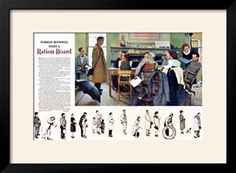 """""""Norman Rockwell visit a Ration Board"""", July 15,1944 Giclee Print by Norman Rockwell at Art.com"""
