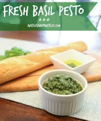 An easy recipe for fresh basil pesto made without pine nuts. Whip up a batch, use some when it's fresh, and freeze the rest for later! Fresh Basil Pesto Recipe, Basil Pesto Recipes, Truffles, Cantaloupe, Carrots, Frozen, Easy Meals, Homemade, Fruit