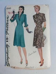 Antique Simplicity Pattern 4949 Misses by VintagePatternDrawer, $23.95