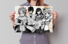Fairy Tail Guild  Anime Manga Watercolor Poster Art Wall Decor Gift  no160