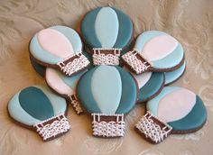 biscotti decorati - hot air balloons