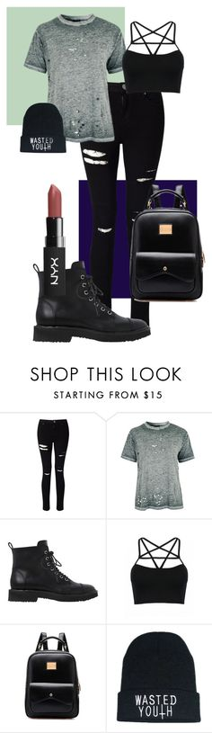 """rockerstyle"" by cashtonlv ❤ liked on Polyvore featuring Miss Selfridge, Topshop, Giuseppe Zanotti, rockerchic and rockerstyle"