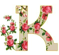 Climbing Roses, Rose Cottage, Floral Fabric, Alphabet, Lettering, Mirror, Artwork, Flowers, Pink