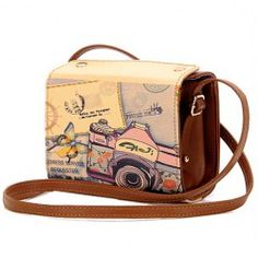 Sweet Women's Crossbody Bag With Camera Print and PU Leather Design