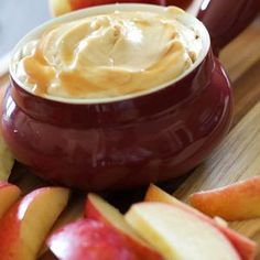 Caramel Apple Dip...This dip is so simple to make, whips up in minutes and tastes absolutely incredible! The perfect fall treat or dessert appetizer!