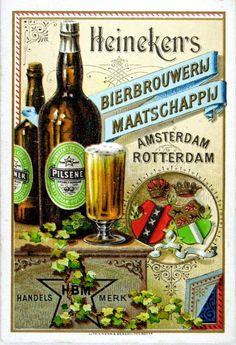 Oude Nederlands reclameposters Bier Heineken