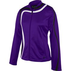 This comfortable lightweight jacket features a flattering cut that will give a stylish and athletic look to your team. Gym Warm Up, Team Wear, Color Guard, Tool Design, Champion, Zip, Fabric, Pants, Jackets