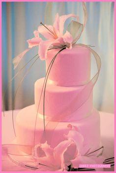 pink wedding cakes photo