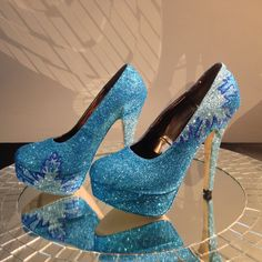 Frozen Elsa inspired High Heel Shoes by ChicUniqueGeek on Etsy