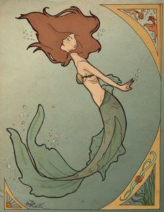 Google Image Result for http://th04.deviantart.net/fs71/PRE/i/2010/093/9/1/Art_Nouveau_Mermaid_by_SerenityMonkala.png