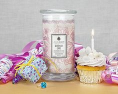 Birthday Cake Indulge in the delicious aroma of decadent birthday cake! This sweet cake scent has a bold vanilla presence with hints of fresh butter, creamy anisic notes and warm sugar vanilla. Birthday Presents, Birthday Wishes, Scented Candles, Candle Jars, Aroma Beads, Birthday Cake With Candles, Jewelry Candles, Luxury Soap, Luxury Candles