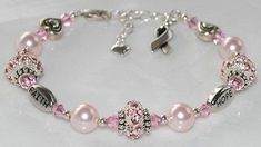 October is Breast Cancer Awareness Month. Look for project #98 on the Idea Page. #beadedjewelry