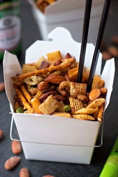 This sweet & spicy Asian snack mix is bursting with flavor! It's easy to make & even easier to devour!