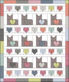 Halloween Quilt Patterns, Cat Quilt Patterns, Halloween Quilts, Baby Girl Quilts, Girls Quilts, Cute Quilts, Mini Quilts, Quilling, Star Quilt Blocks