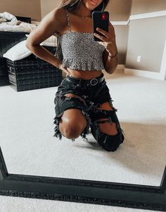 trendy outfits for summer ~ trendy outfits . trendy outfits for summer . trendy outfits for school . trendy outfits for women . Trendy Summer Outfits, Cute Teen Outfits, Teenage Outfits, Cute Comfy Outfits, Teen Fashion Outfits, Retro Outfits, Mode Outfits, Edgy Outfits, Look Fashion