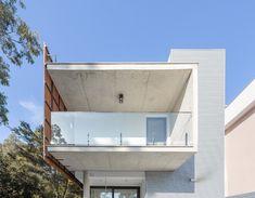Gallery of House da Mata / DA | Departamento de Arquitetura - 7 Steel Detail, Artificial Stone, Second Floor, Ground Floor, Concrete, Windows, Flooring, Outdoor Decor, Facades