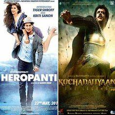 Heropanti and Kochadaiiyaan box office prediction starring Rajnikanth, Deepika Padukone and Tiger Shroff, Kriti Sanon for the first opening day income
