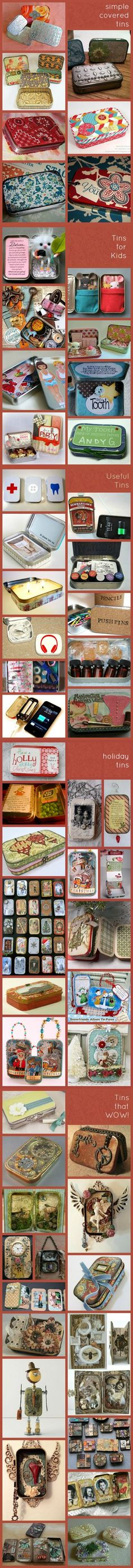 Reuses for Altoid tins - fun little projects :-) Tin Can Crafts, Crafts To Make, Fun Crafts, Crafts For Kids, Altered Tins, Mint Tins, Tin Art, Altoids Tins, Cool Ideas