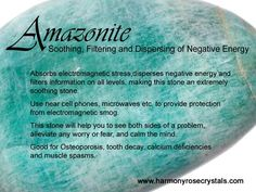 °Amazonite ~ Soothing, Filtering & Dispersing of Negative Energy:
