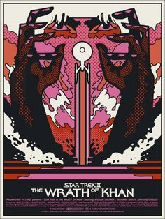 Fantastic, very Mod poster for Star Trek II: The Wrath of Khan.  So very awesome.  :)    Mondo: The Archive | We Buy Your Kids - Star Trek II: The Wrath of Khan, 2012